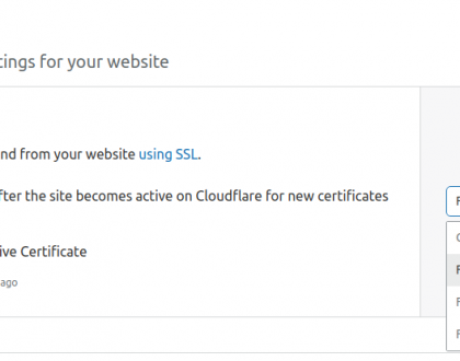 Fix Cloudflare SSL issue
