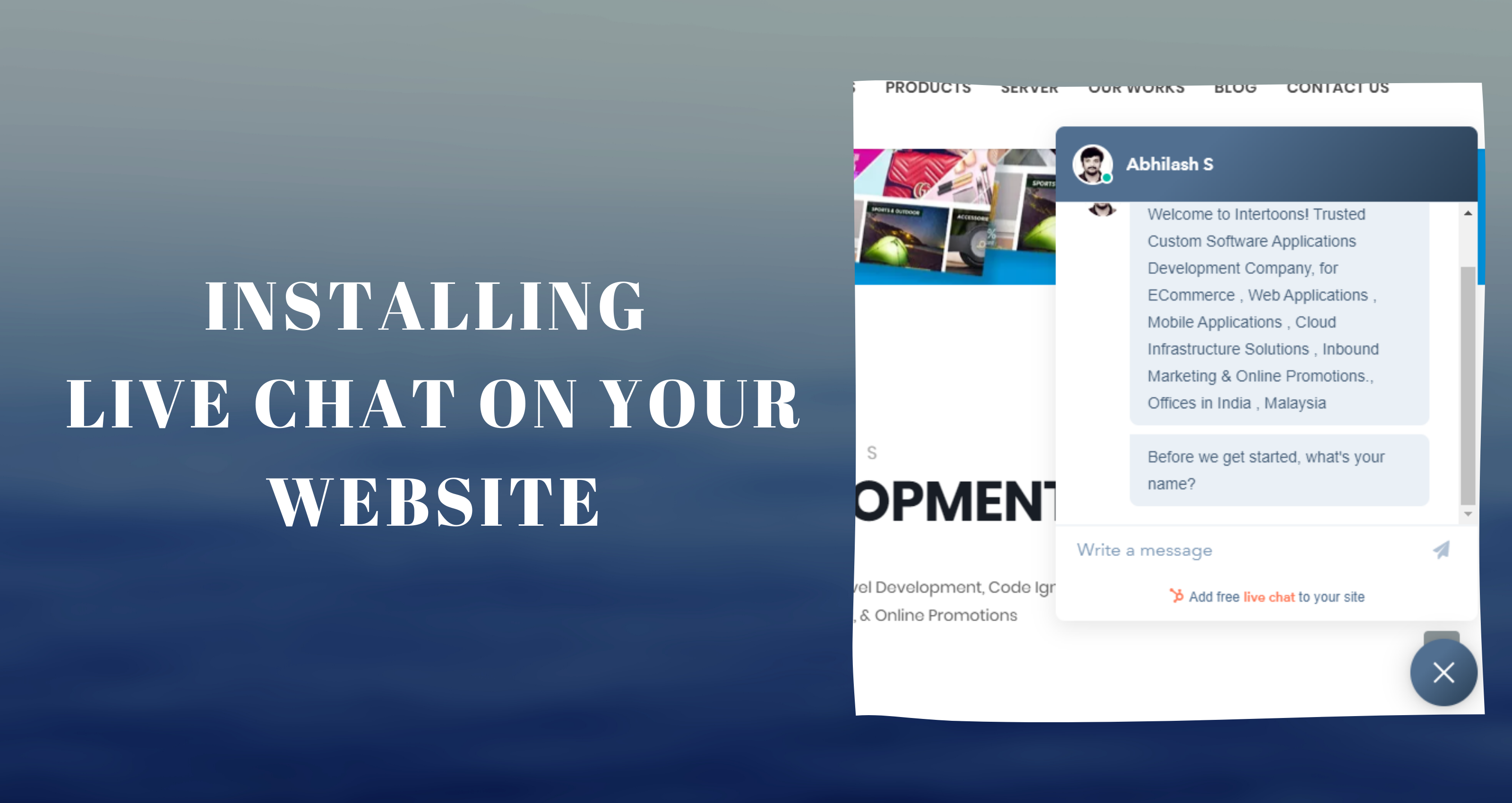 Implementing  LiveChat on your website